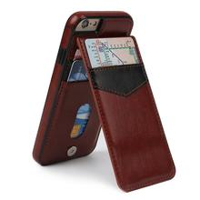 Luxury Leather Phone Cases For iPhone 7 Plus 6 6s 6plus Case Wallet Card Fundas Buckle Stand Cover For Apple iPhone 7Plus Coque(China (Mainland))