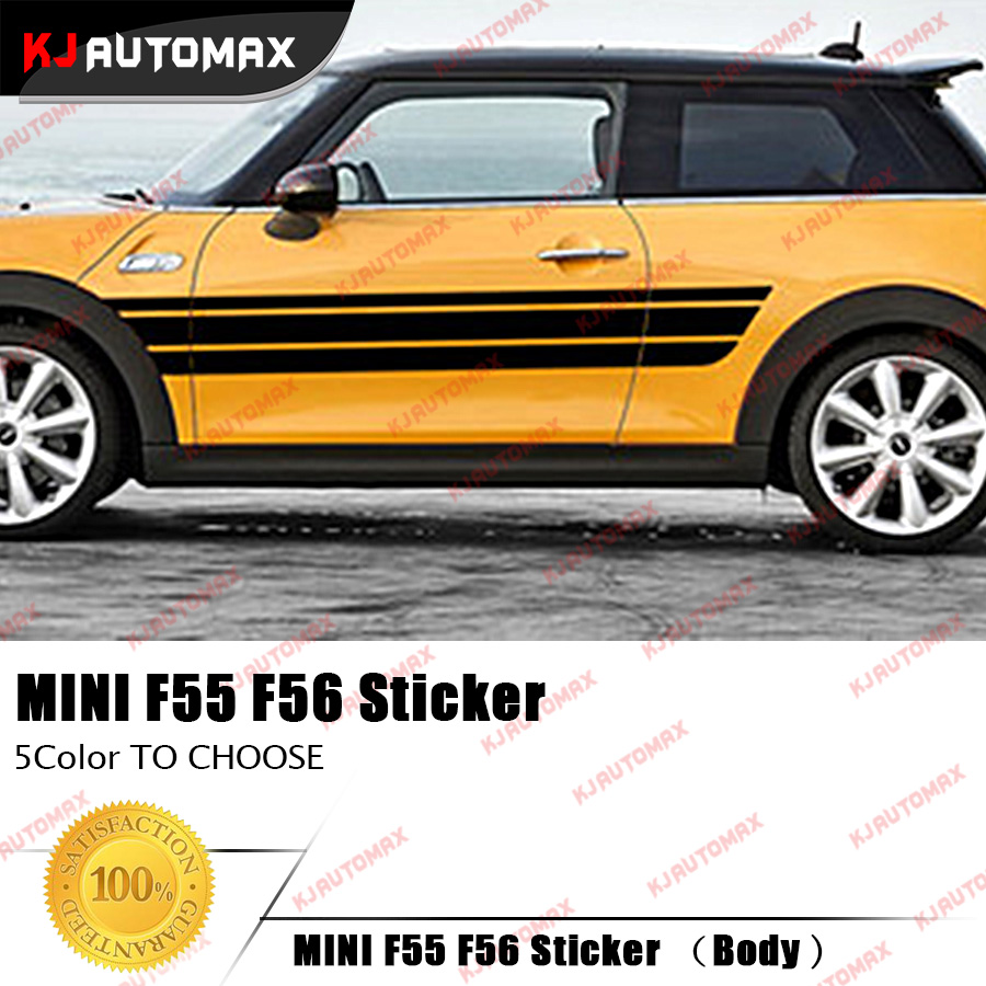 Car side body sticker design - Creative Car Side Racing Stripes Stickers Decals For Mini Cooper F55 F56 2014 2016 Left