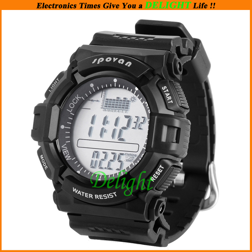 Fashion Multifunctional Digital Fishing Barometer Watch Temperature Weather Forecast Outdoor Man Sports (DL-OS006) - Delight Technology Co., Ltd. store