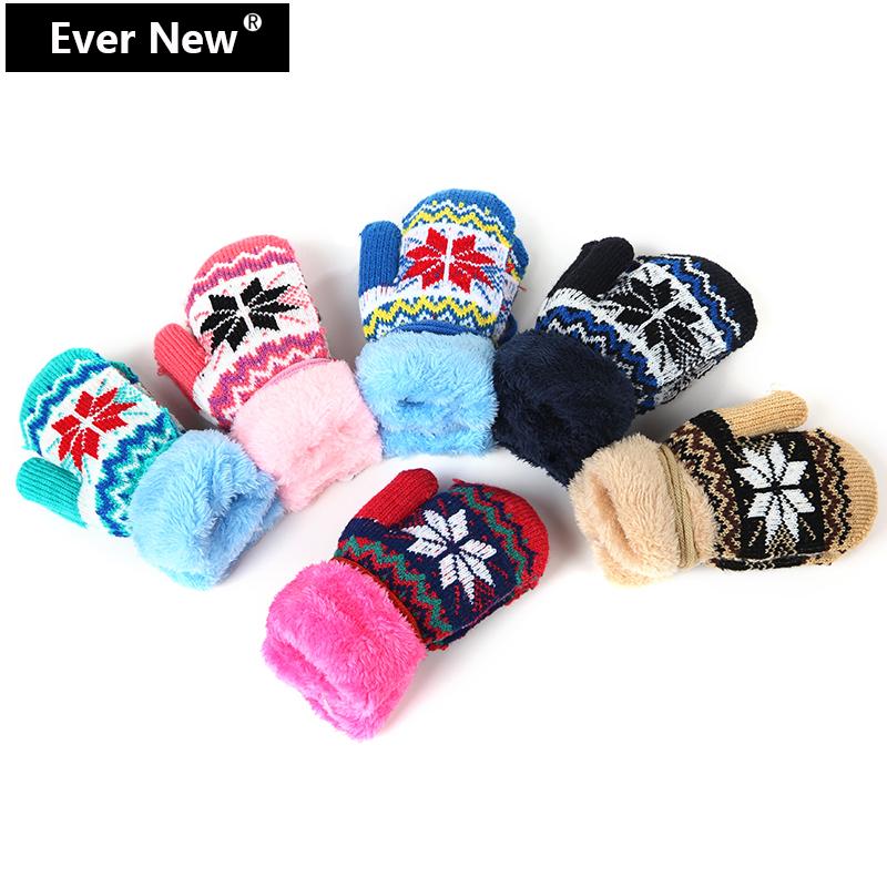 Fashion Snowflake Pattern Kid Gloves Child Lovely Plush Warm Gloves Child Mittens Kid Winter Gloves For Kid Free Shipping(China (Mainland))