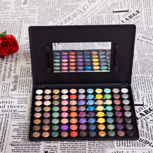Wholesale New Professional Quality 88 Color Shimmer & Matte Eye Shadow Palette Eyeshadow Mineral Makeup Palette E88 V1018A(China (Mainland))