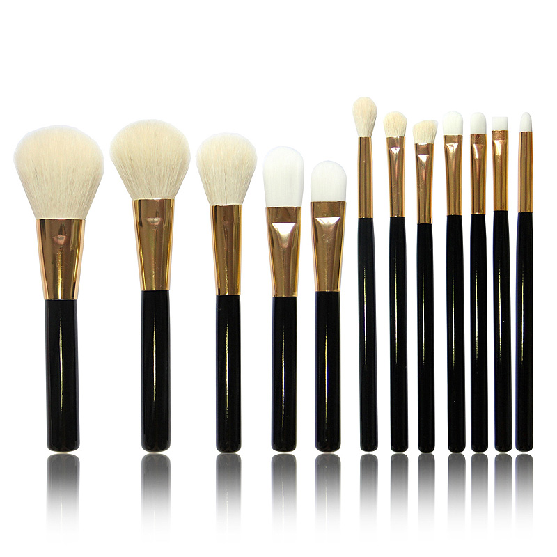 12pcs Professional Makeup Brush Sets Cosmetics Brushes Eyebrow Eye Brow Powder Lipsticks Shadows Make Up Tool Kit<br><br>Aliexpress