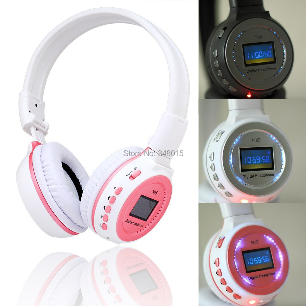 Hot LED Headhand 3.5mm Sports Music Wireless Mp3 Player Headphones with MMC SD TF Card Slot Headset Headphone Earphone(China (Mainland))