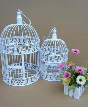 Free  shipping Fashion iron birdcage photography props hanging bird cage wedding decoration flower