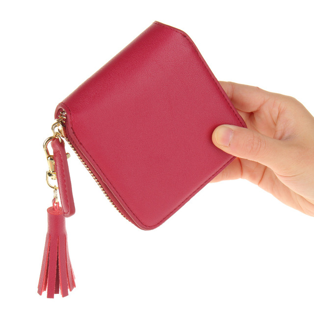 2016 модный дизайн женщины кошельки портмоне искусственная кожа дамы кисточка бумажник ...