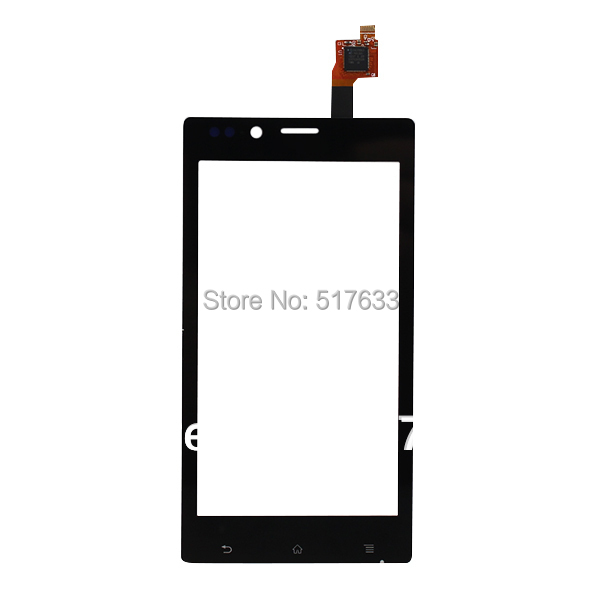 Black Front Outer Glass Lens Touch Screen Digitizer For Sony for Xperia J ST26i ST26a ST26, free shipping+tracking No.