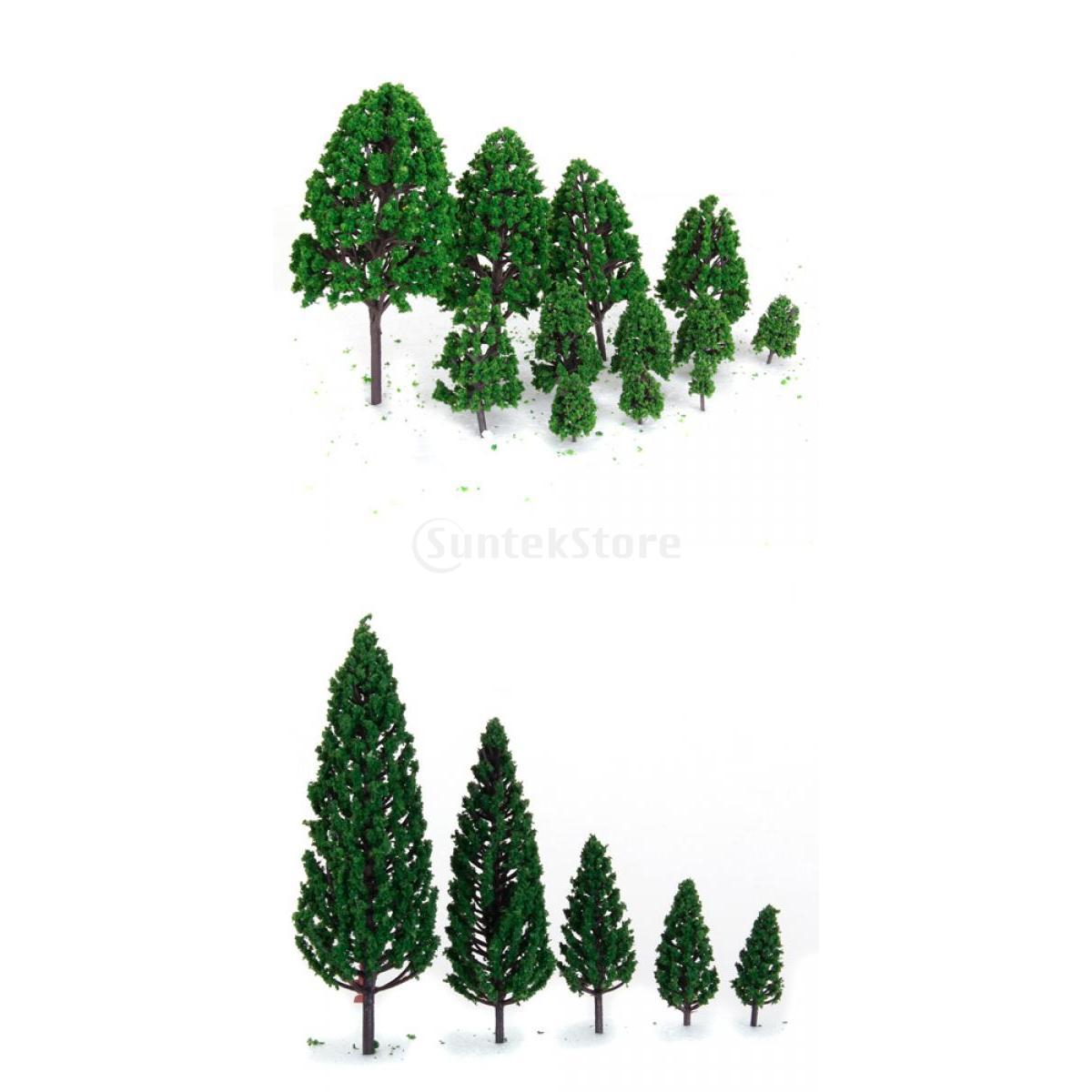 2015 Brand New 22 Green Model Trees Train Railways Architecture War Game Scenery Layout 3-16 cm - Bling Fashion store