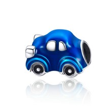 BISAER 925 スターリングシルバープリンセス牛カボチャの車ベビーカーファミリーハウスホームビーズフィットチャームブレスレット Diy のジュエリー(China)