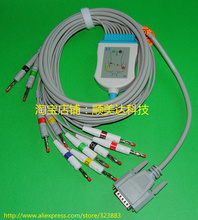 Nihon Kohden EKG ECG cable with leadwires, 10 leads(China (Mainland))