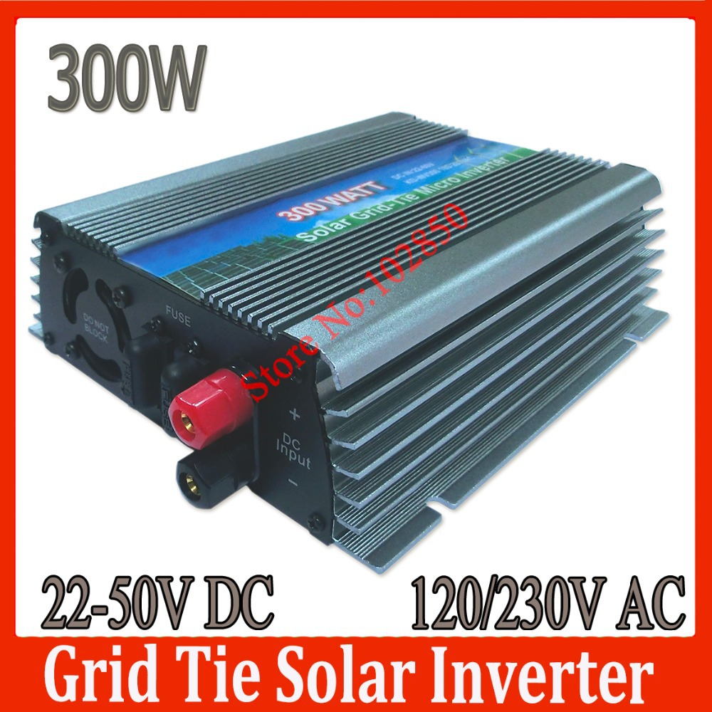 300W solar grid tie inverter,22-50V DC input,120/230V AC Pure Sine Wave Solar Inverter,stackable power inverter grid tie(China (Mainland))