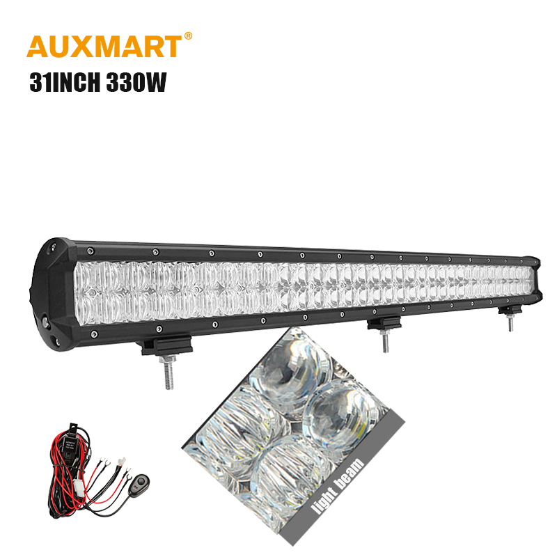 Auxmart 5D 31inch 330w LED Work light bar straight combo beam auto led bar for Offroad trailer truck 4x4 SUV ATV pickup wagon(China (Mainland))