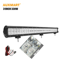 Auxmart 5D 31inch 330w LED Work light bar straight combo beam auto led bar for Offroad