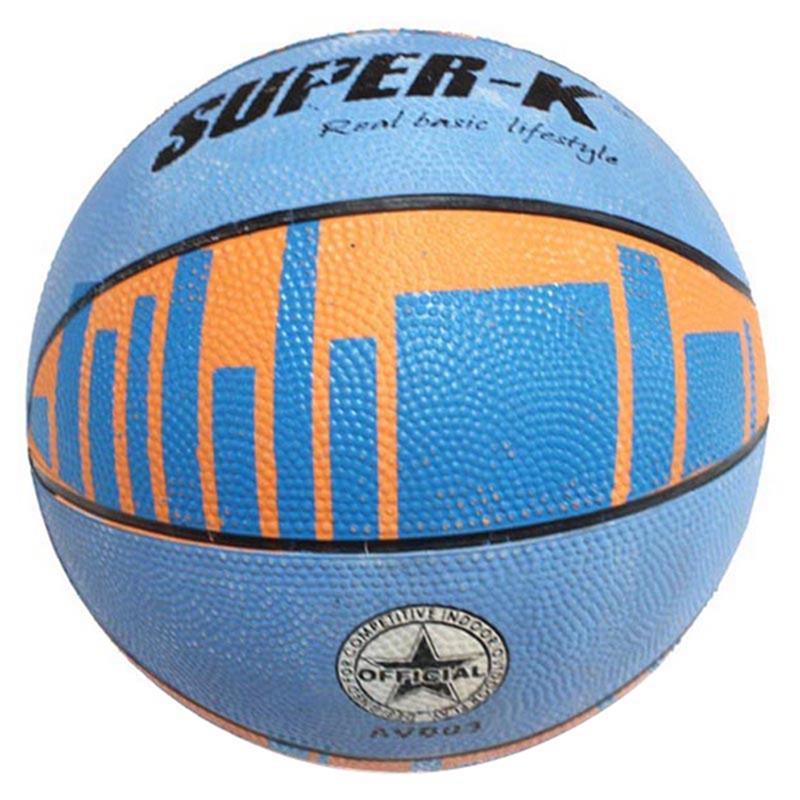 Mesuca Super-k 3# Animal Pattern Printing Rubber Basketball (Random Color) AVB03(China (Mainland))