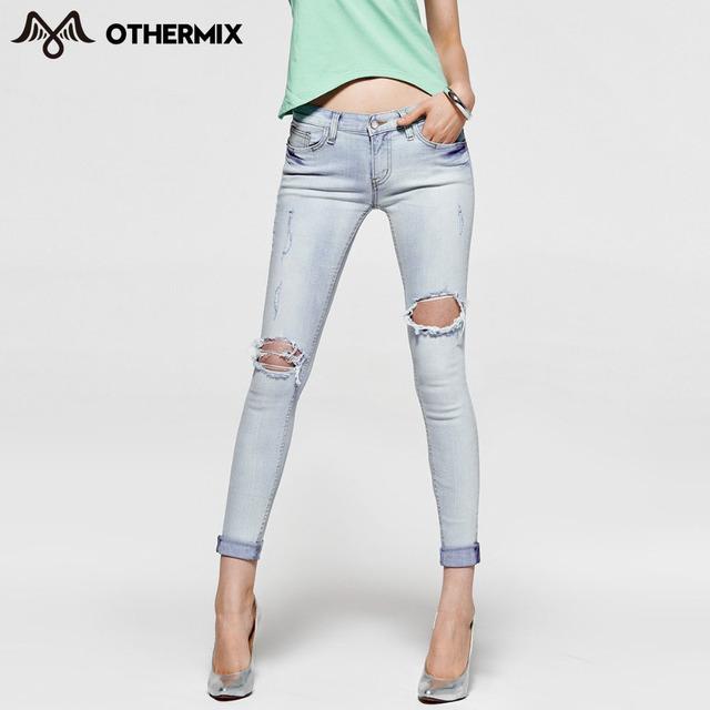 Othermix 2015 женщин летние новый тонкий простой сексуальная омывается отверстия ...