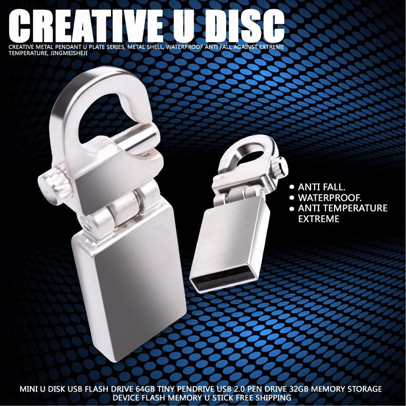 Мини памяти usb металл привода 32 ГБ usb флэш-накопитель usb 2.0 Pendriver флэш-памяти usb-палки бесплатная доставка