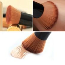 Free Shipping NEW Bamboo Foundation Blush Angled Flat Top Base Liquid Brush Cosmetic Makeup Brush