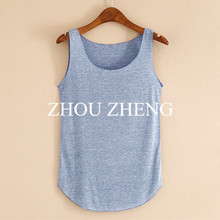 Spring Summer New Tank Tops Women Sleeveless Round Neck Loose T Shirt Ladies Vest Singlets(China (Mainland))