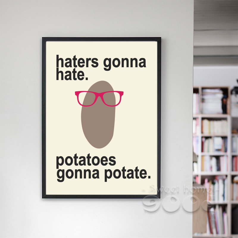 Buy Cartoon Potato Canvas Art Print Painting Poster Wall Pictures For Home