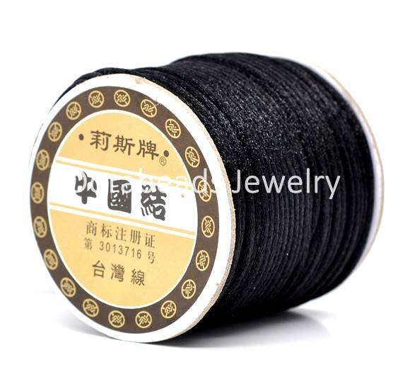 Black Jewelry Beading Nylon Cord 2mm,sold per lot of 1 roll(about 50 Yards/45M) (B10434), yiwu(China (Mainland))