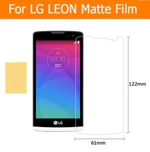 Hot sale 3pcs/1lot anti-glare matte screen protector films For LG LEON 4.5″ front matte Anti-Fingerprint films with clean cloth