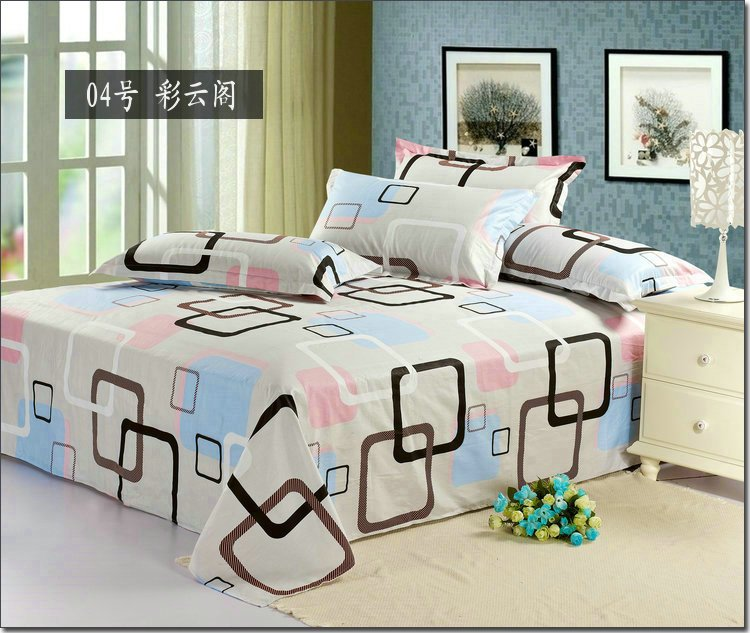 1pcs Hot Sale Modern Design Printed Bed Sheets Queen Size