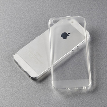 Unique Style Ultra Thin Crystal Clear Transparent Soft Silicone TPU Case For iphone 4 4S 5 5s(China (Mainland))