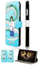 Hot selling THE ART OF Spirited Away hybrid retail 5designs mobile phone bag card wallet leather cases for IPHONE4 4S free ship