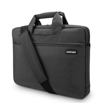 Pofoko дизайнер водонепроницаемый 13 14 15 13.3 15.6 дюймов ноутбук ноутбук сумка для женщин людей портфель плеча сумку