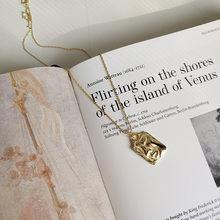 Peri'sBox Bạc 925 Đồng Tiền Mặt Dây Chuyền Vòng Đeo Cổ cho Nữ Mini Malachite Mặt Dây Chuyền Mặt Phật Quan Âm Tầng Cổ Tuyên B(China)