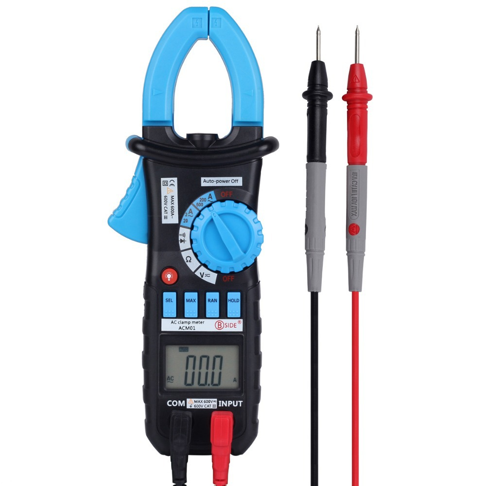 Bside ACm01 2000 Counts Auto Range 600A AC Digital Clamp Meter MS2008a - BSIDE TRADE (HONGKONG storeCO.,LIMTED)