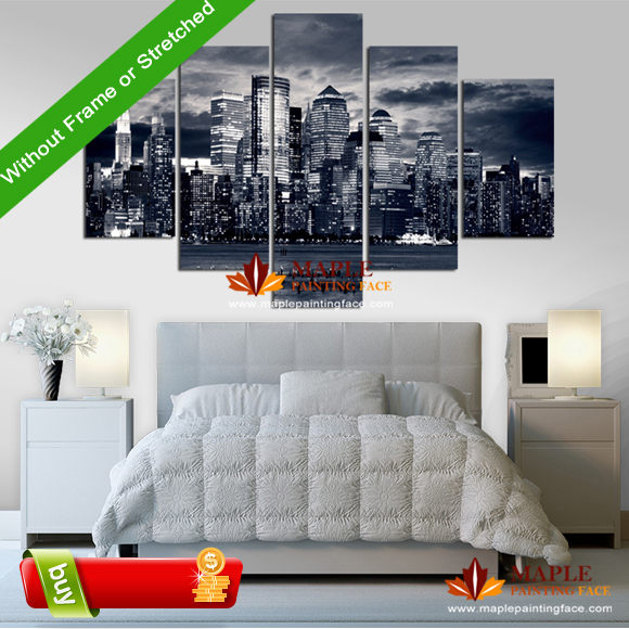 Canvas painting 5 piece wall decor canvas home decoration for House decoration pieces