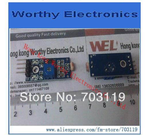 2pcs/lot Manufacturers selling/phoensitive resistor sensor module/light detection/photodiode (4 wire system)(China (Mainland))