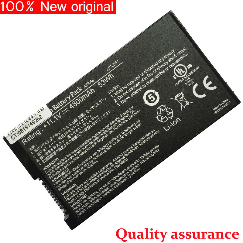 original Laptop Battery for ASUS A32-A8 A8 A8000 F8 X80 X88 F99 N80 F83 N81 A8J A8G A8H F81 X85 A8A Genuine New Free Shipping<br><br>Aliexpress