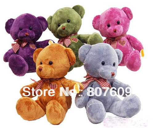 hot sale lovely Plush toy  love heart bear free shipping  sit size 20 cm 40pcs/lot