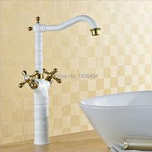 White bathroom taps