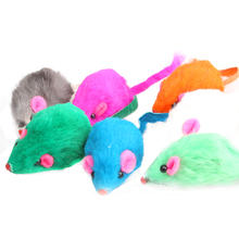 1pcs Soft Fleece False Mouse Cat Toys Colorful Feather Funny Playing Toys For Cats Kitten (Random Color )(China (Mainland))