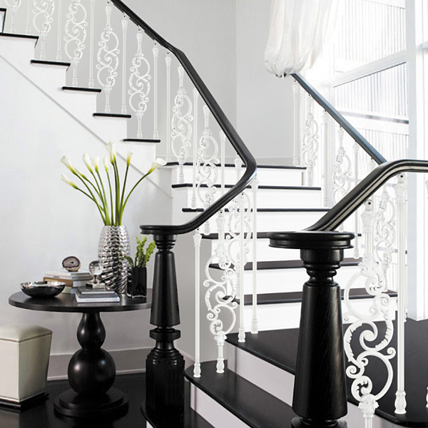 Europäischen design showily aluminium treppengeländer, antikes ...