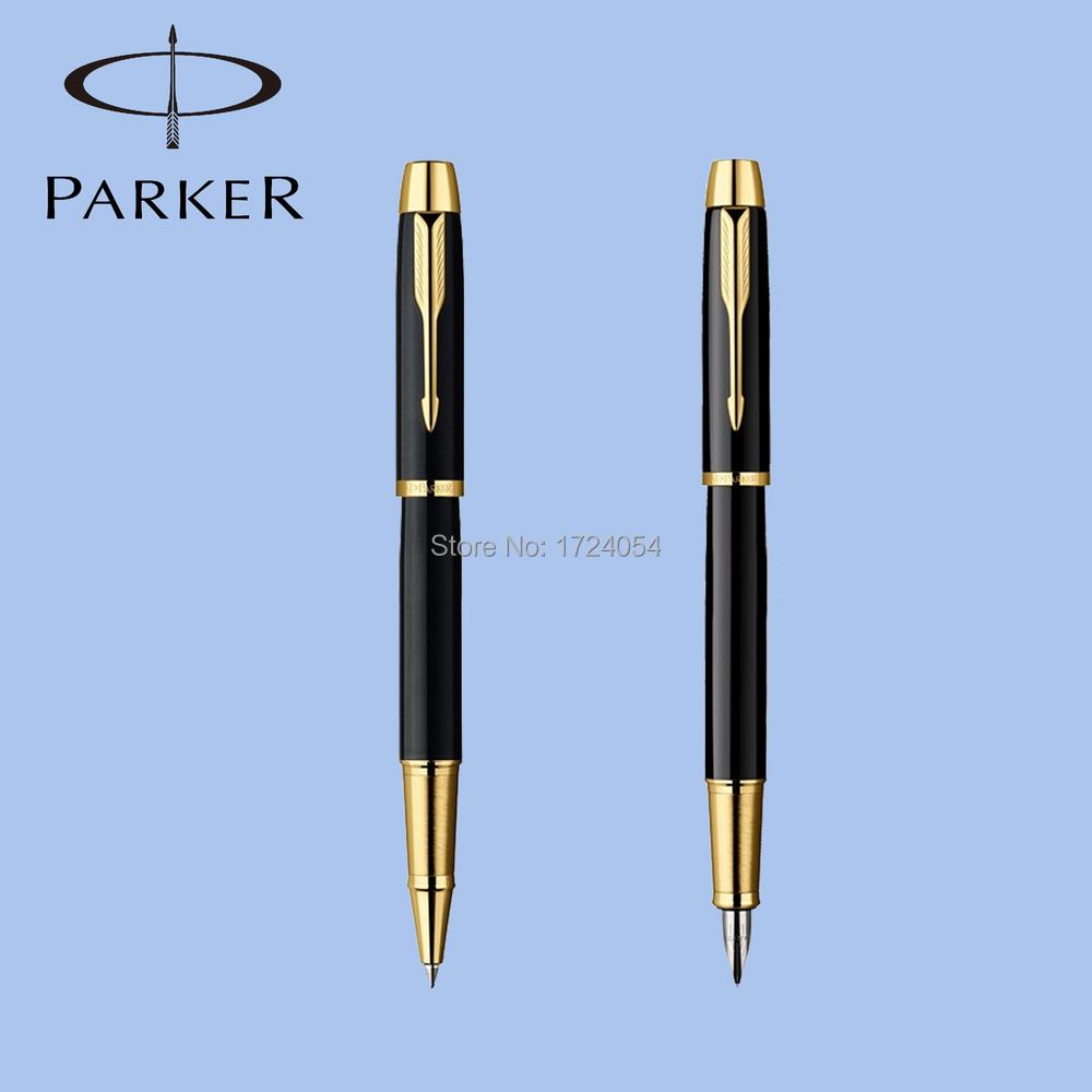 1 pc/lot Personalizada Parker Bolígrafo Papelería Caneta Pluma Parker Sonnet Bolígrafos Bolígrafos Negro Pluma Clip de Oro 13.8*1.3 cm
