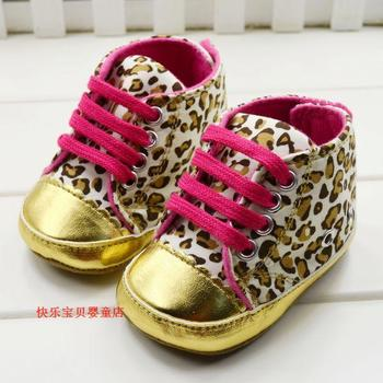 Champagne leopard print baby shoe toddler baby shoes  6pairs/lot footwear infant first walkers free shipping