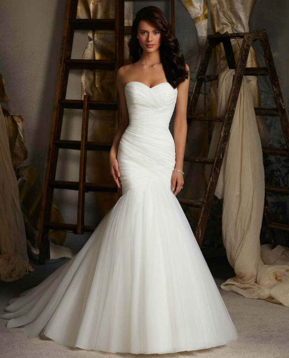 Strapless Ivory Wedding Dresses