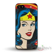 Wonder Woman Protective Protector back skins mobile cellphone cases for iphone 4/4s 5/5s 5c SE 6/6s plus ipod touch 4/5/6