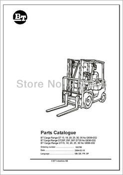Toyota BT Forklifts Spare Parts PDF 2012