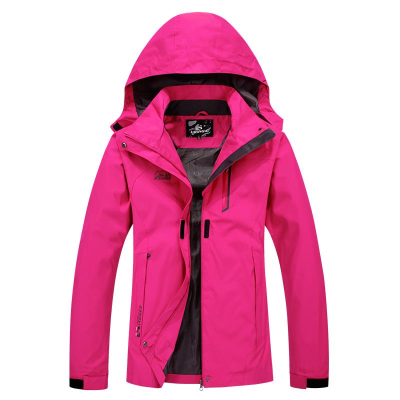 Outdoor Travel Rain Jacket Women Hiking Jacket Plus size ...