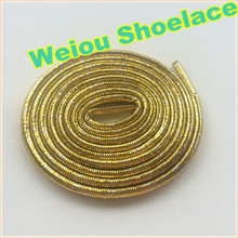 2016 Weiou Gold/Silver rope laces Flashing Shoelaces Glitter shoe laces for dresses shoes 125cm/49''(China (Mainland))
