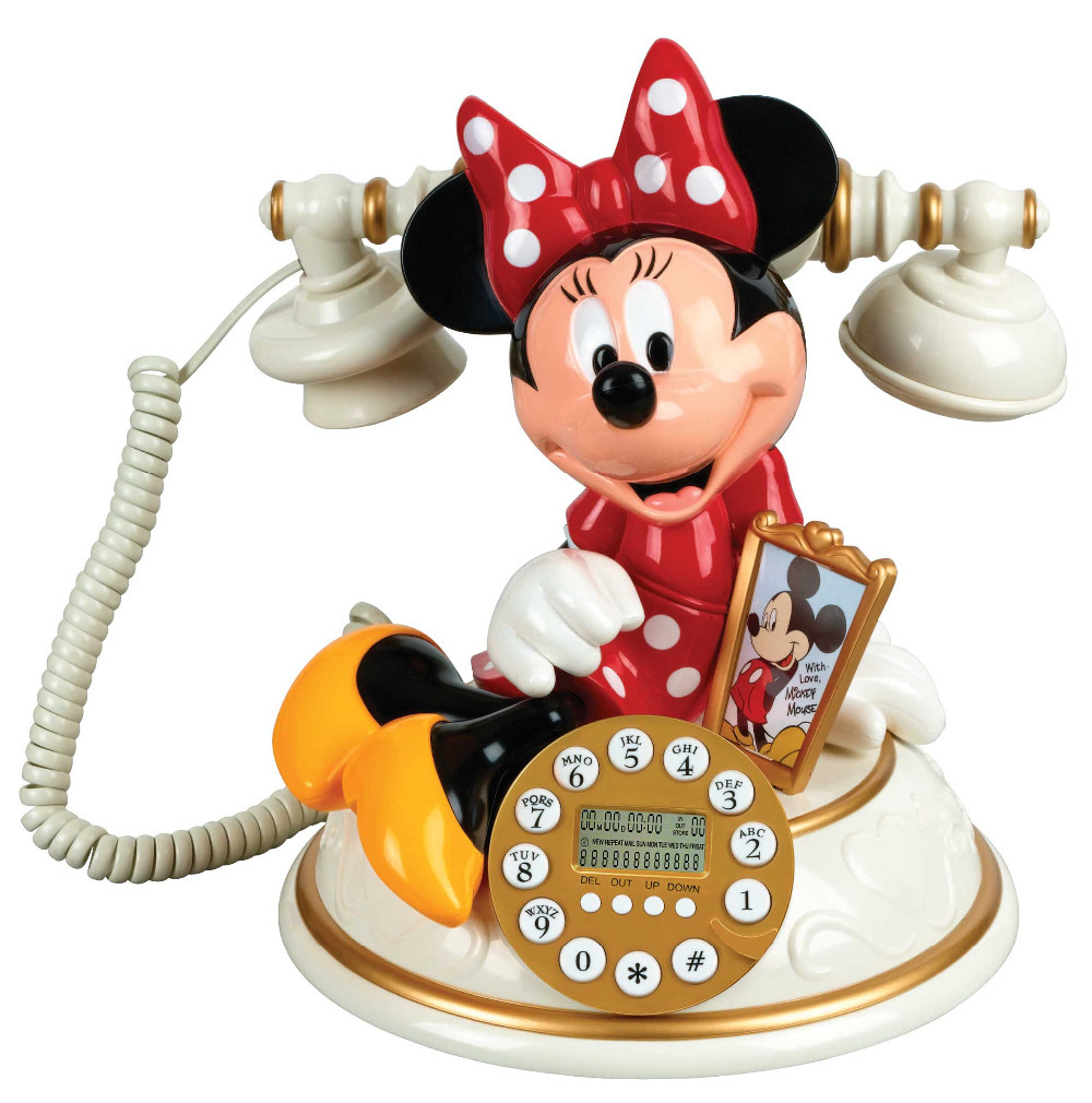 Fashion novelty telephones pink Cartoon telephone MICKEY MINNIE phone home corded telefono KXT881CID FREE SHIPPING(China (Mainland))