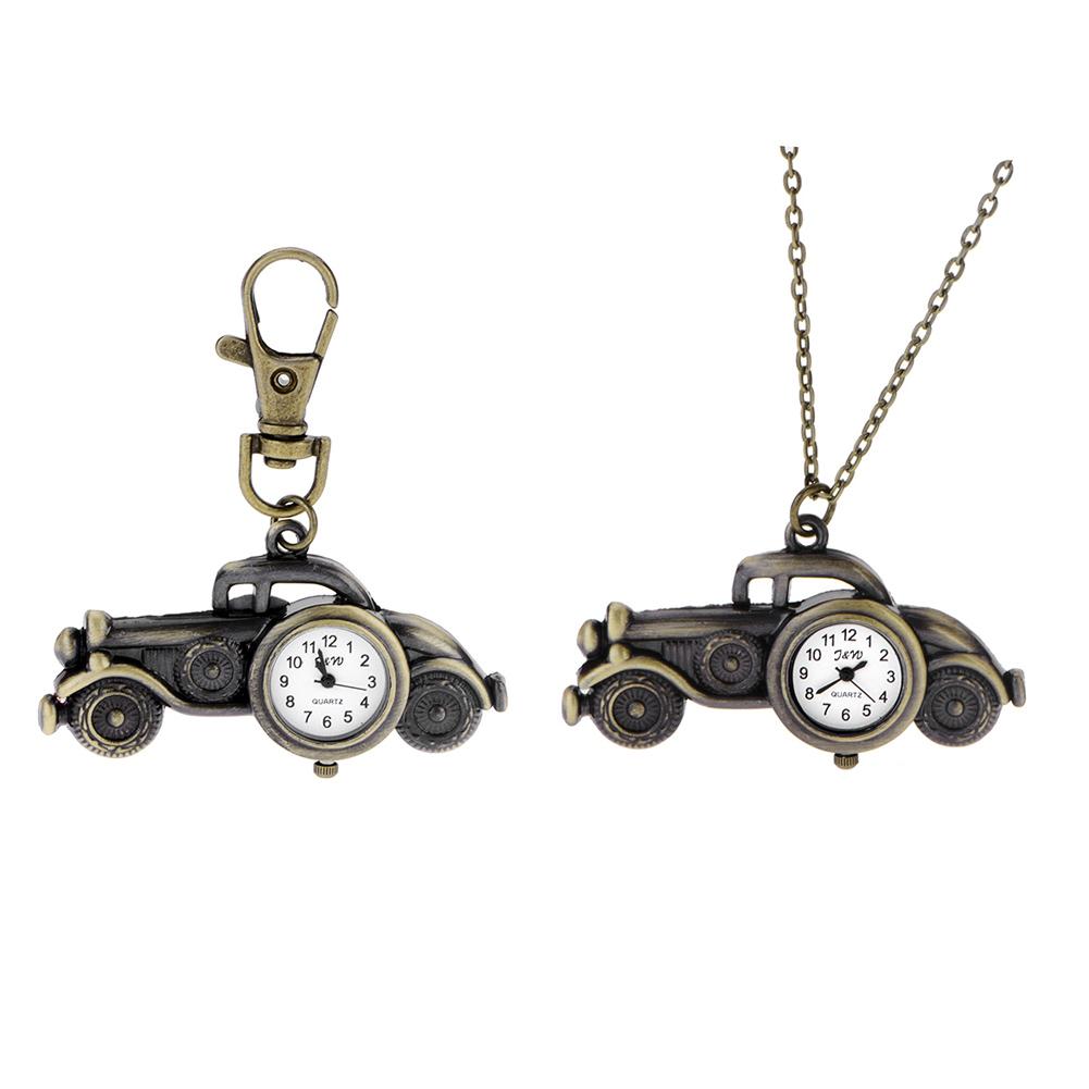 Hot Sale Fashion Women Quartz Watches Car Pendant Necklace Vintage Pocket Watch Necklace Key Chain Key Ring<br><br>Aliexpress