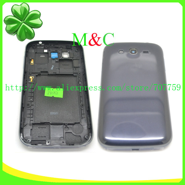 original Full Housing For Samsung Galaxy Grand DUOS i9082 complete cover case Middle frame with side key free shiping