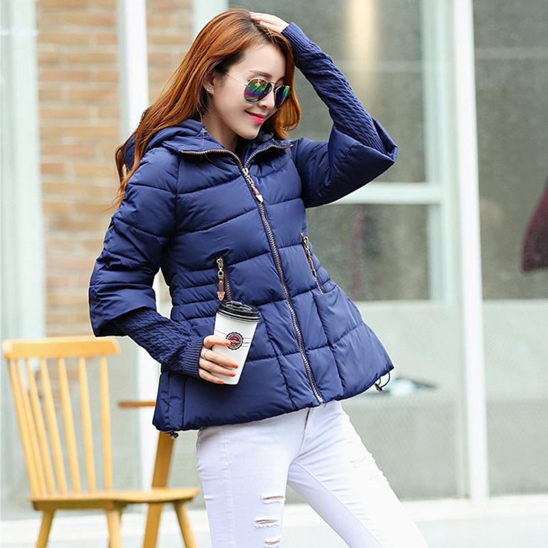 2015 new Korean fashion winter jacket women slim short a-line jacket hooded jacket women cotton padded jacket DX368