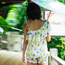 Song Riel sexy strapless thin summer new fashion casual cute pajamas Pyjamas suit Ms Jane new