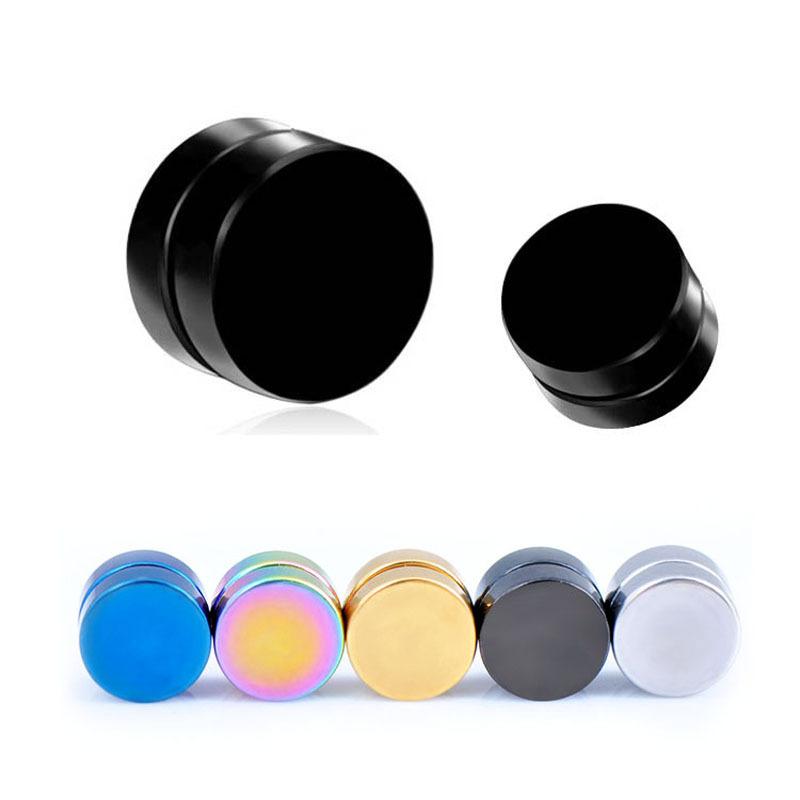 1pc Stainless Steel Magnetic Ear Stud Men/Womens Clip On Non-Pierced Earring 5 Colors Option EAR-0021<br><br>Aliexpress